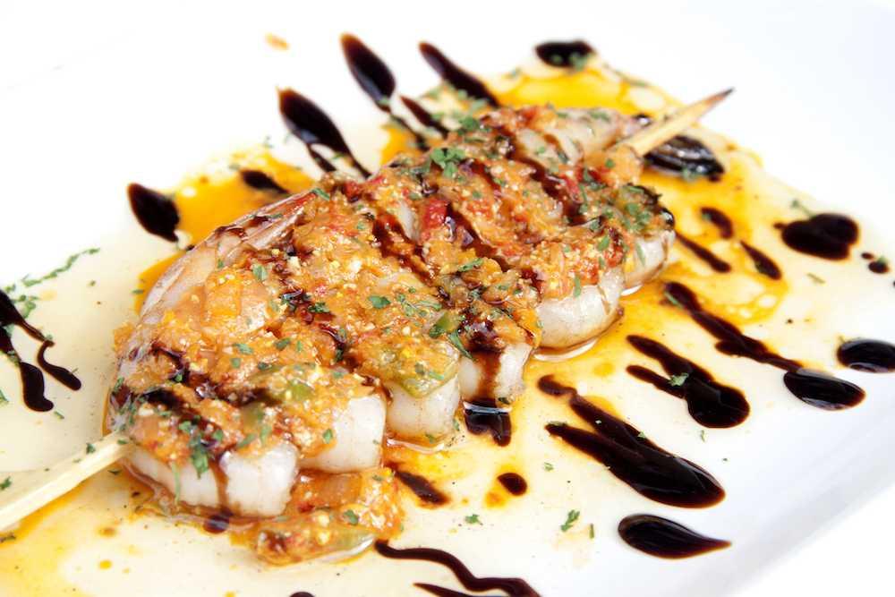 Brochette de grosses crevettes