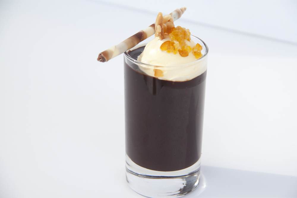Spicy chocolate soup