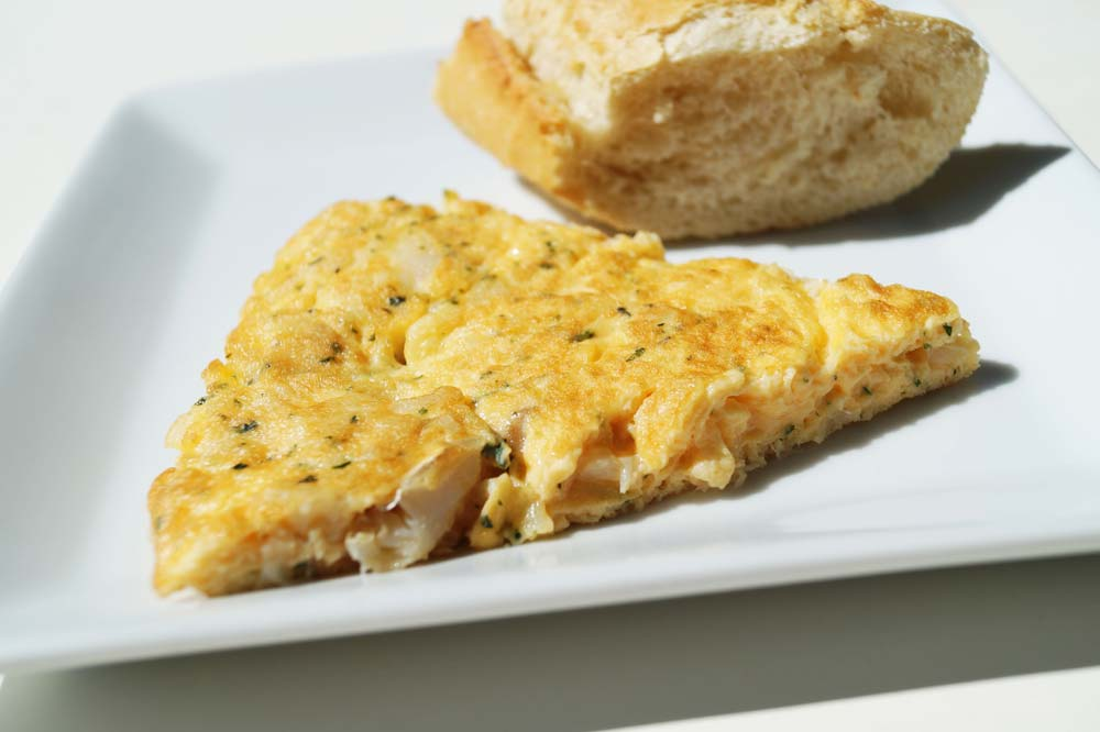 Omelette à la morue