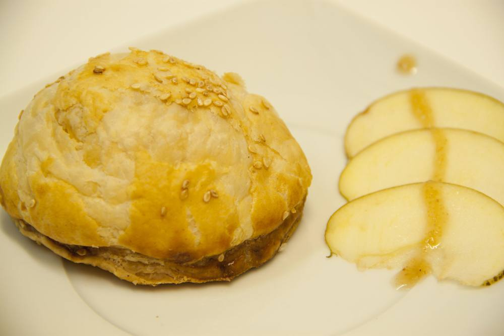 Pastry stuffed with foie